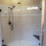 3 Panel Ultra Clear FramelessDouble Offset Glass Shower Enclosure