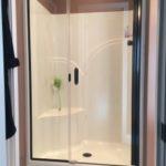 Semi Frameless Glass Shower Enclosure In Pre-Existing Fiberglass Shower