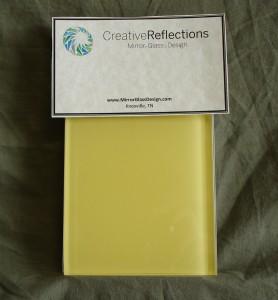 Custom Back Painted Glass - Yellow
