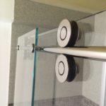 Frameless Glass Shower Slider - Polished Stainless Hardware