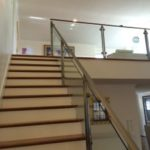 2nd Floor Ultra Clear Low Iron Glass Railing for Private Residence