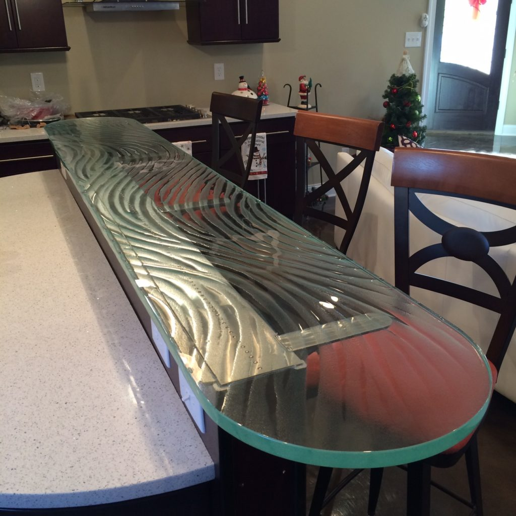 Ultra Clear Patterned Glass Counter