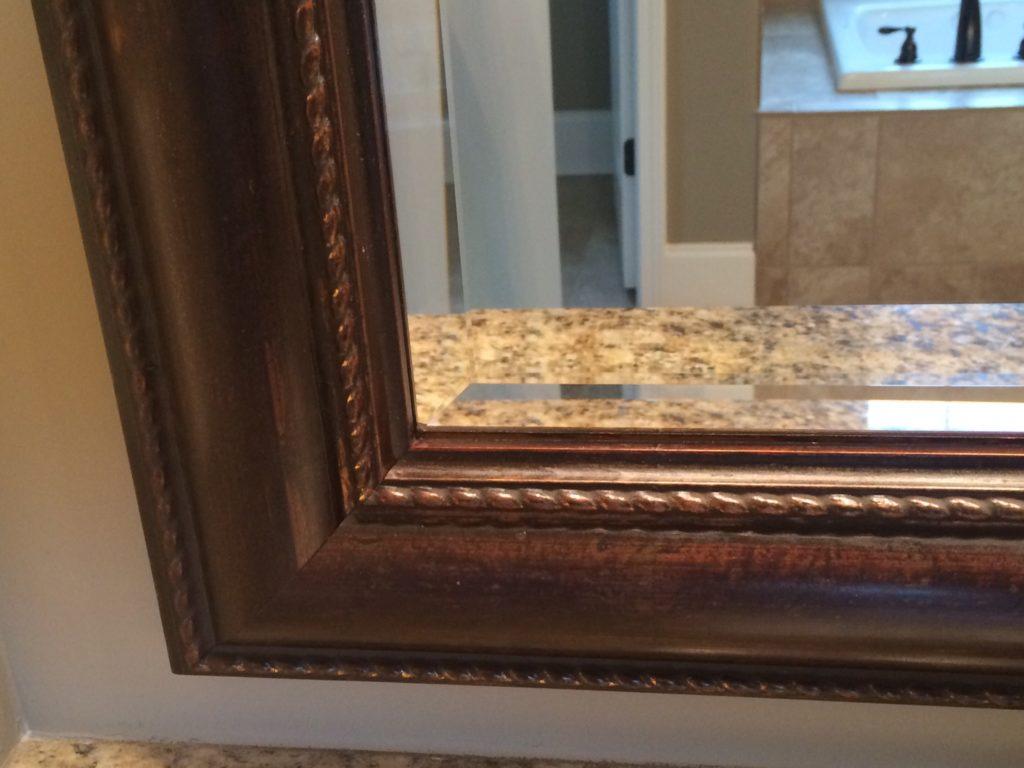 Custom Glass Mirror Frame With Beveled Edge