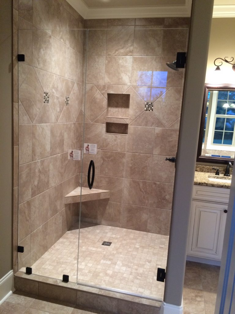 Ultra Clear In-Line Frameless Glass Shower Enclosure