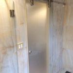 Ultra Clear Single Panel Sliding Glass Shower