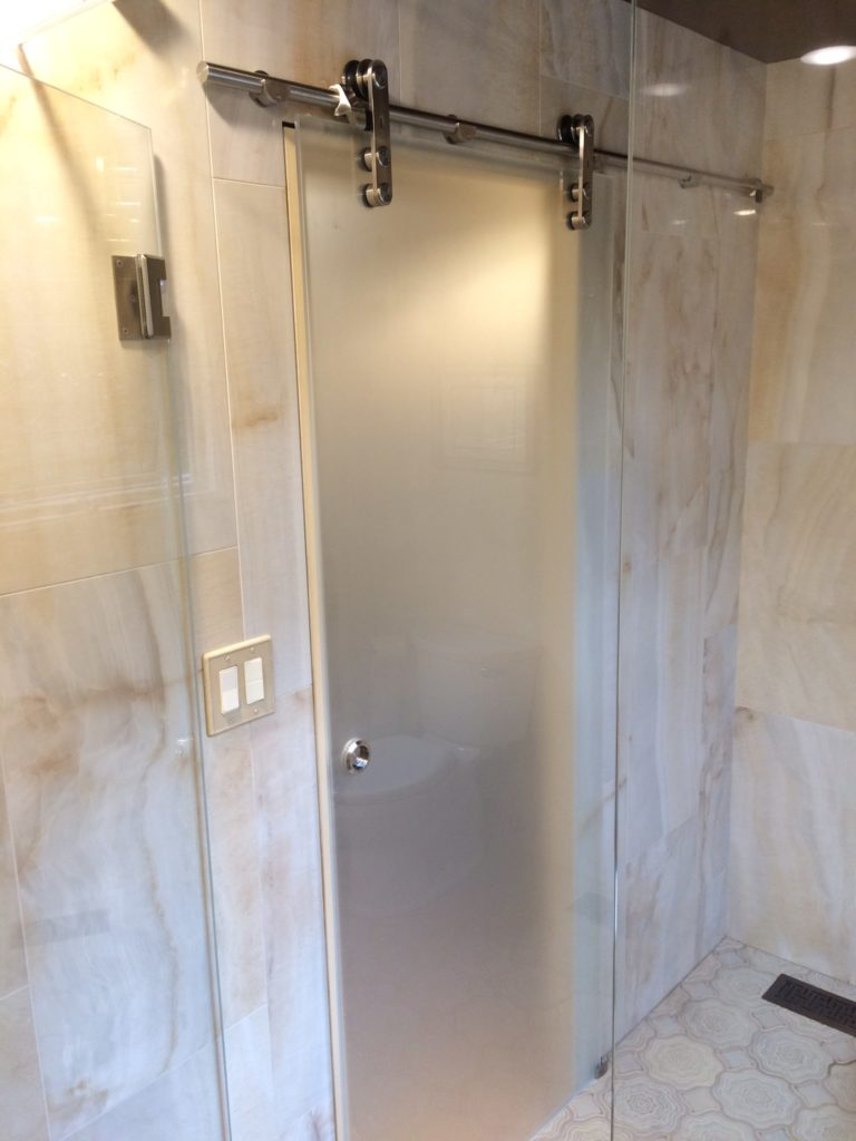 Ultra Clear Single Panel Sliding Glass Shower