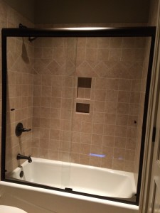 Semi Frameless Heavy Duty Ultra Clear Glass Bypass Slider Tub