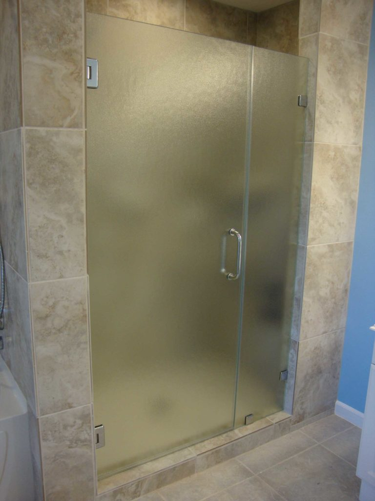 Shower Door with Panel - Obscure Glass