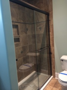 Sliding Shower Doors with Guardian Showerguard