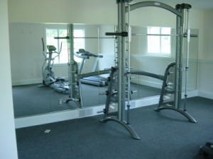 Wall Mirror in Home Gym