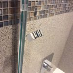 Square Knob Hardware Style for Glass Shower