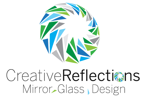 CreativeReflections Mirror Glass Design Logo