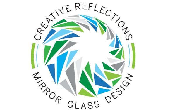 Creative Reflections Mirror Glass Design Logo