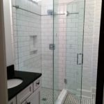 Ultra Clear Glass Shower with 90 Degree Offset Panel