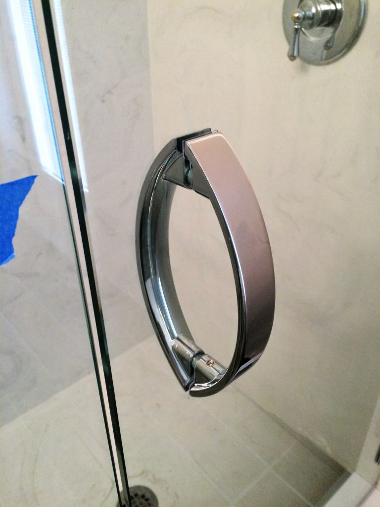 Chrome Crescent Style Shower Handle