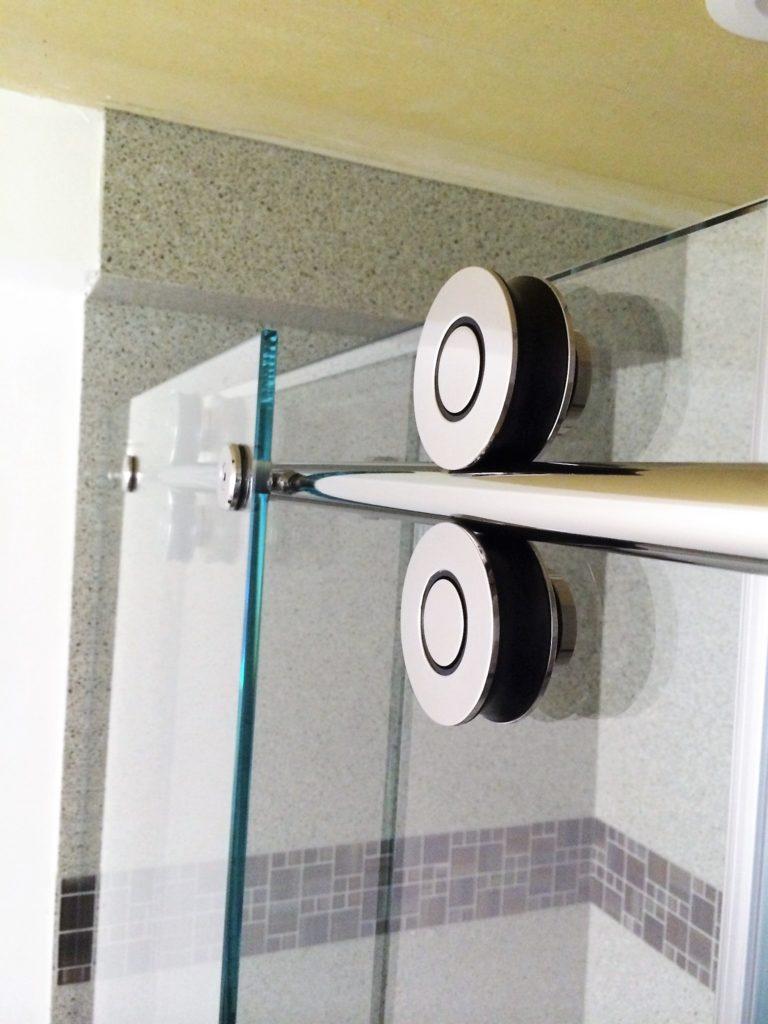 Polished Stainless Inline Slider Shower Door