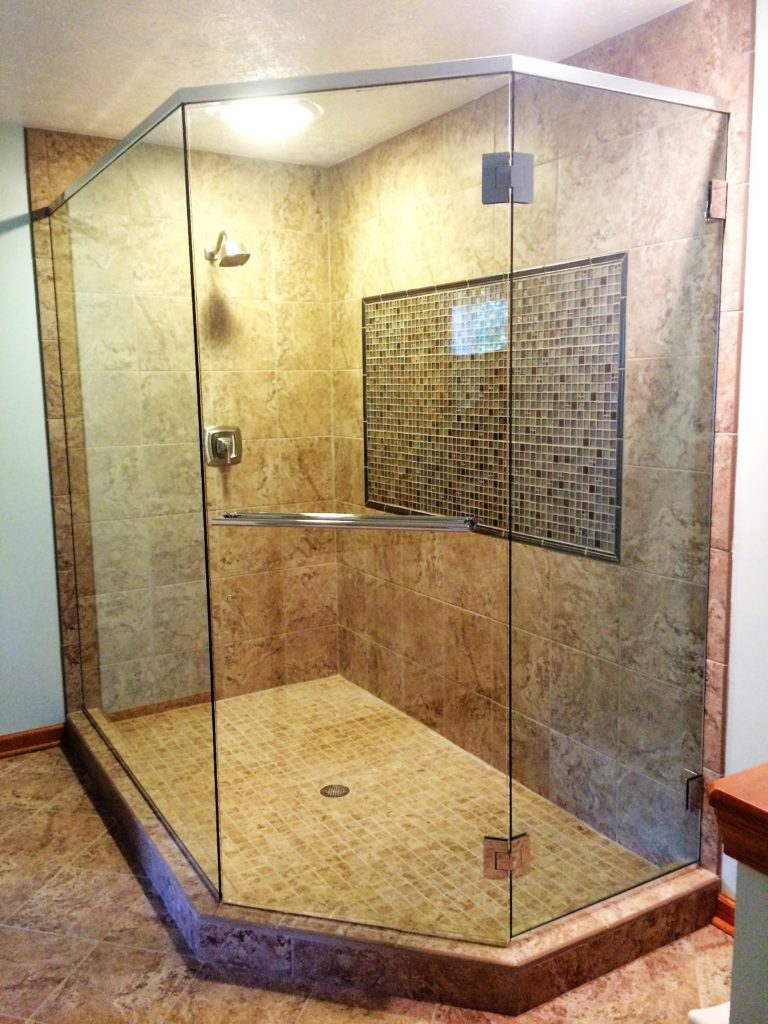 Semi Frameless Showerguard Shower Enclosure with Header