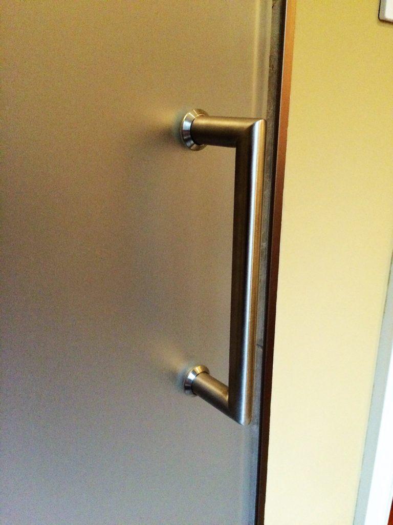 Frameless Shower Door Handle - Brushed Nickel