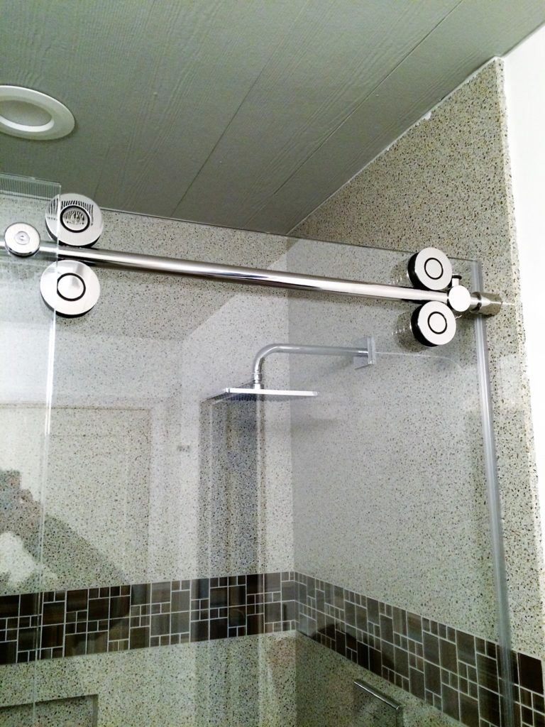 Polished Stainless Shower Slider Hardware