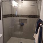 Ultra Clear Frameless Single Panel Slider Shower