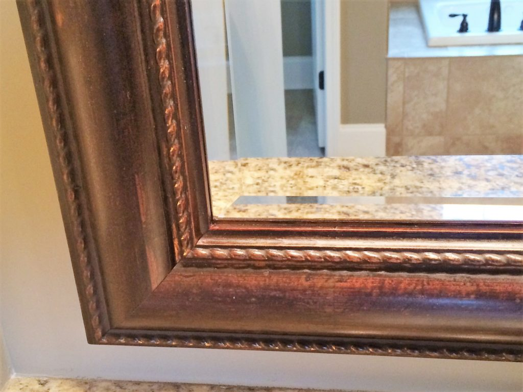 Beveled Glass Mirror Vanity with Frame