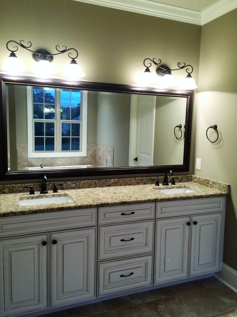Master Bath Glass Mirror Vanity