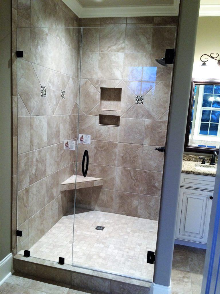 Low Iron Inline Swingdoor Shower Enclosure