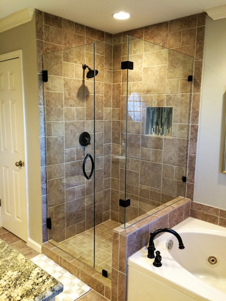 Frameless Ultra Clear Glass Shower Enclosure with 90 Degree Panel