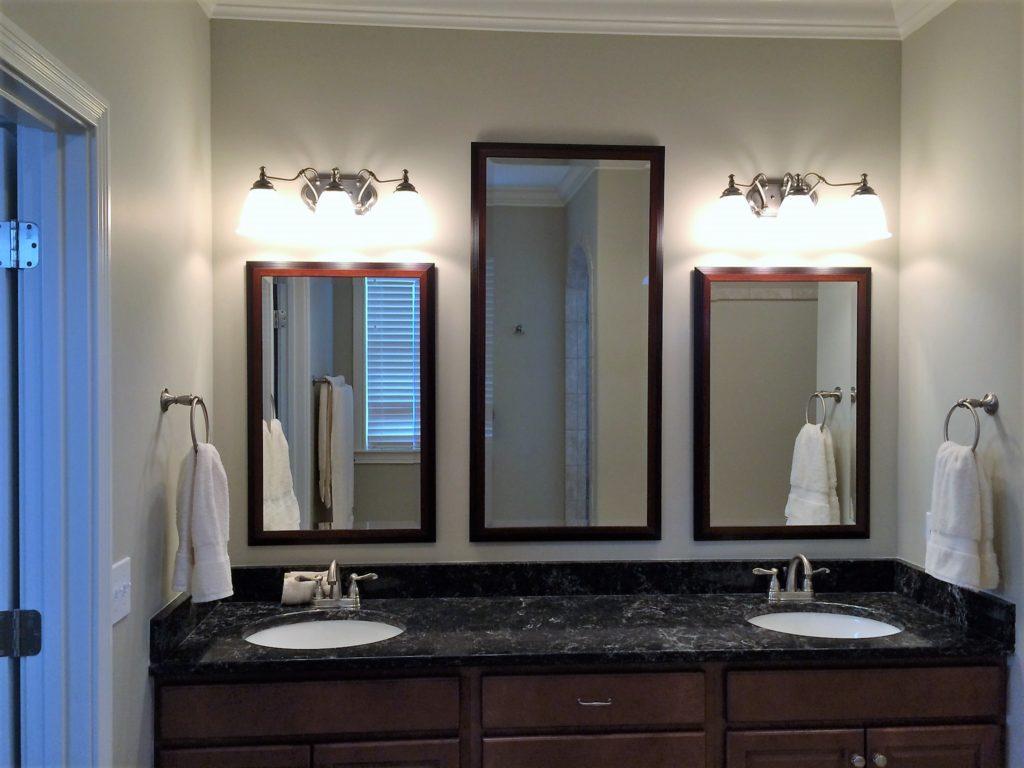 Matching Triple Bathroom Vanity Mirrors