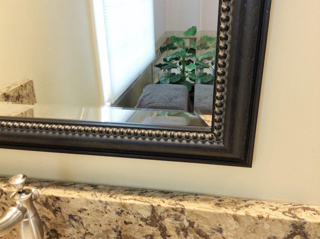 Beveled Glass Mirror Master Bathroom Vanity