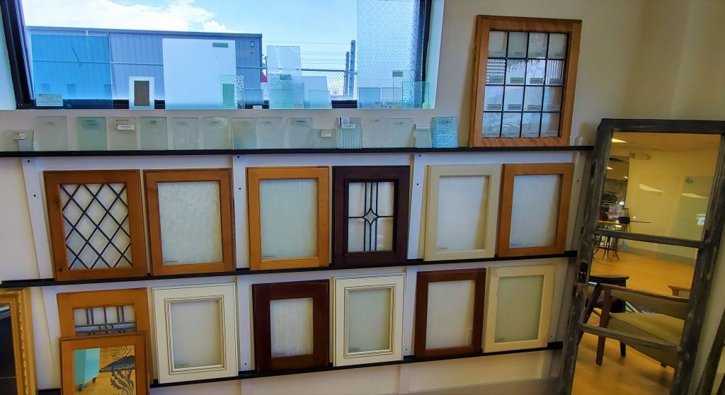 A Variety of Patterned Glass Samples