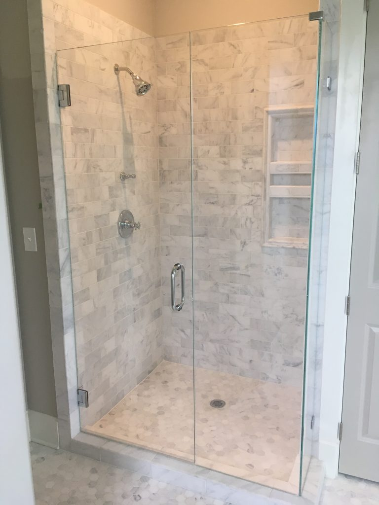 Ultra Clear In-Line Frameless Shower Enclosure