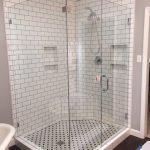 Frameless Glass Full Enclosure Shower With 90 Degree Panel