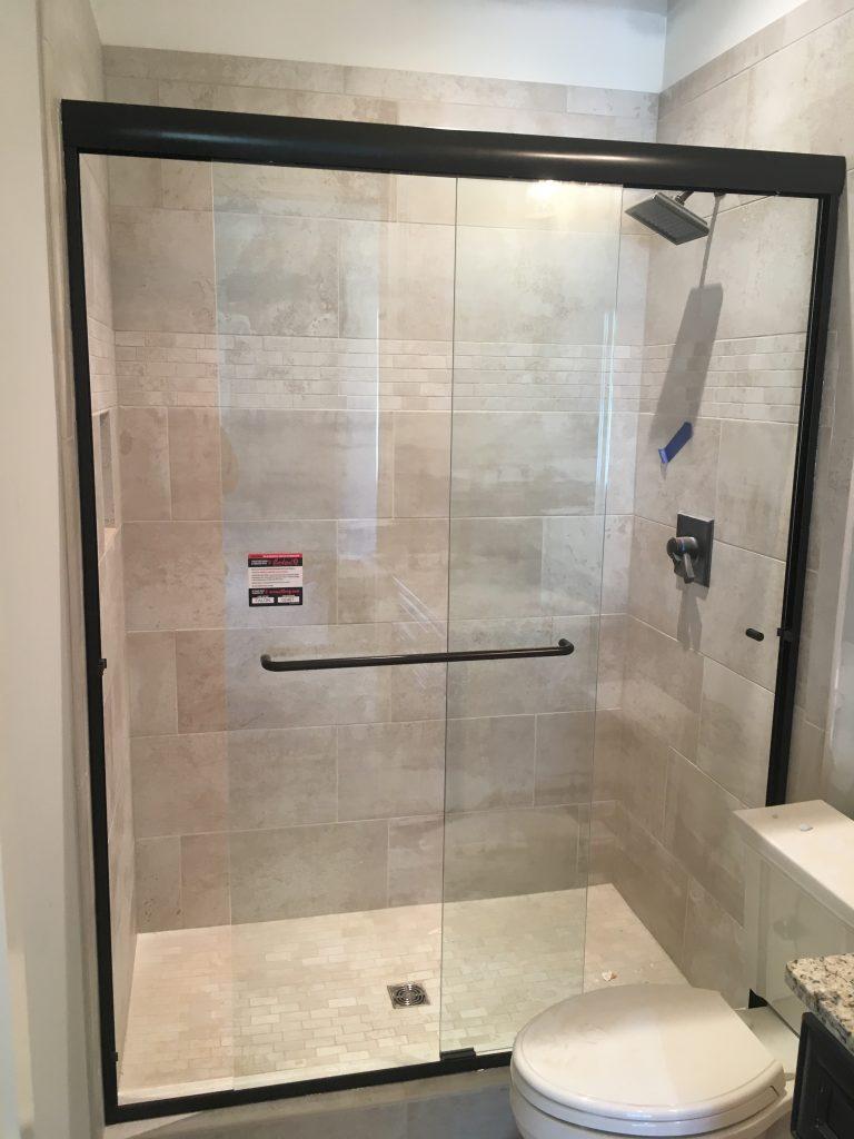 Semi Frameless Bypass Slider Shower Enclosure