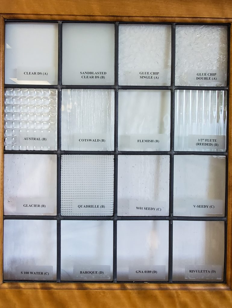 Selections of Some of the More Popular Glass Patterns