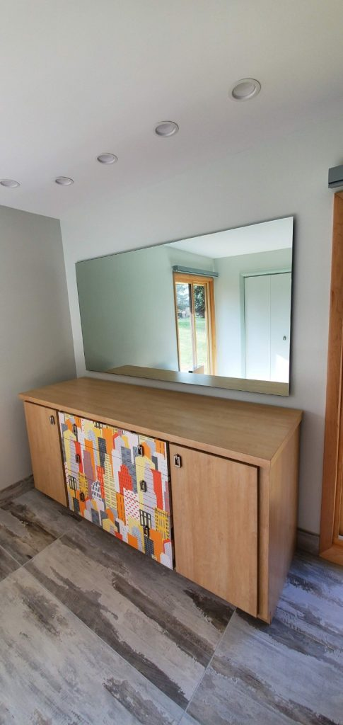 Zero Profile Floating Glass Mirror for Bedroom Vanity